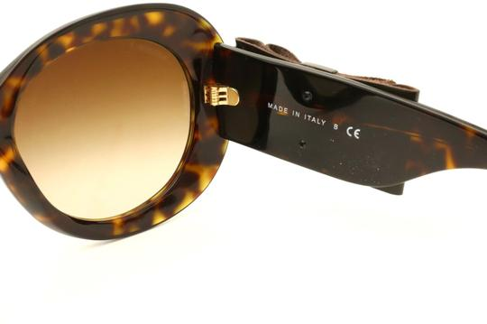Chanel CH5282-Q c.714/S5 Havana Frame Large Leather Bow Sunglasses 56mm Italy Image 3