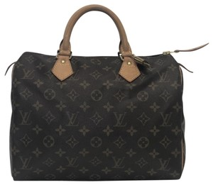 Louis Vuitton Speedy Speedy 30 Monogram Top Handle Satchel in Brown
