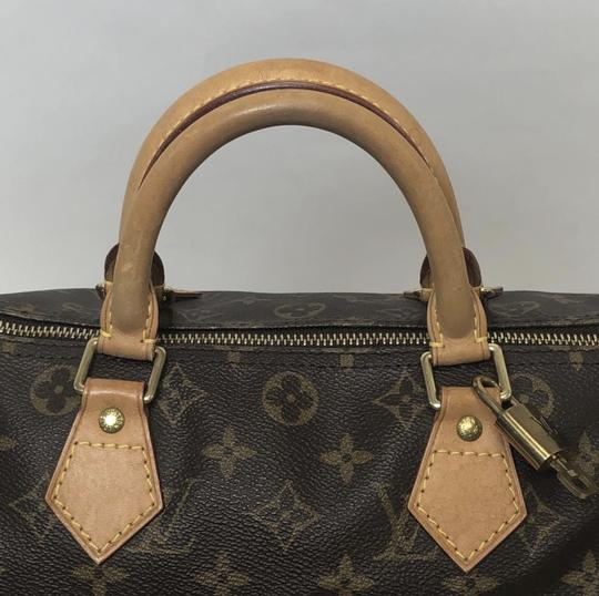 Louis Vuitton Speedy Speedy 30 Monogram Top Handle Satchel in Brown Image 2