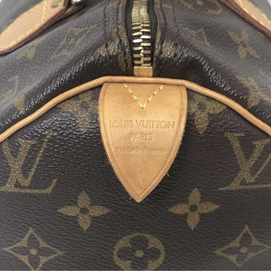 Louis Vuitton Speedy Speedy 30 Monogram Top Handle Satchel in Brown Image 4