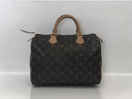 Louis Vuitton Speedy Speedy 30 Monogram Top Handle Satchel in Brown Image 5