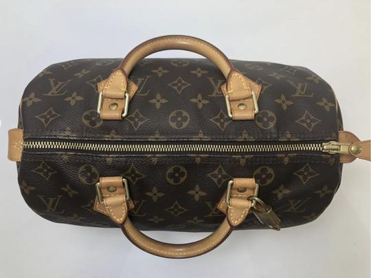 Louis Vuitton Speedy Speedy 30 Monogram Top Handle Satchel in Brown Image 6