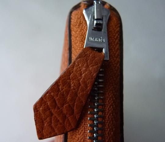 Hermès Hermes Azap Orange Long Wallet Image 2