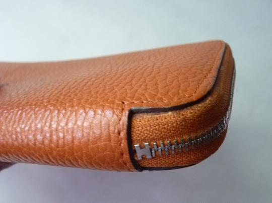 Hermès Hermes Azap Orange Long Wallet Image 3