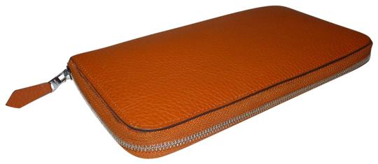 Hermès Hermes Azap Orange Long Wallet Image 0