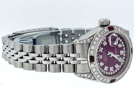 Rolex Ladies Datejust Stainless Steel with String Diamond Dial Watch Image 2