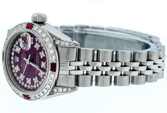 Rolex Ladies Datejust Stainless Steel with String Diamond Dial Watch Image 8