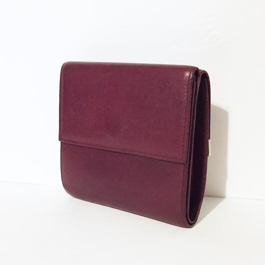 Cartier Classic red leather like new double snap wallet Image 1