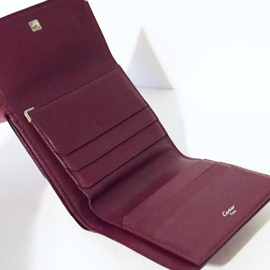 Cartier Classic red leather like new double snap wallet Image 2