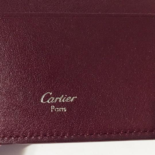 Cartier Classic red leather like new double snap wallet Image 3