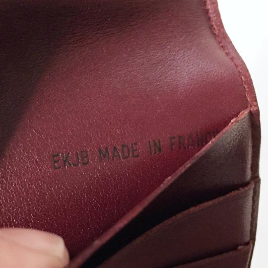 Cartier Classic red leather like new double snap wallet Image 4