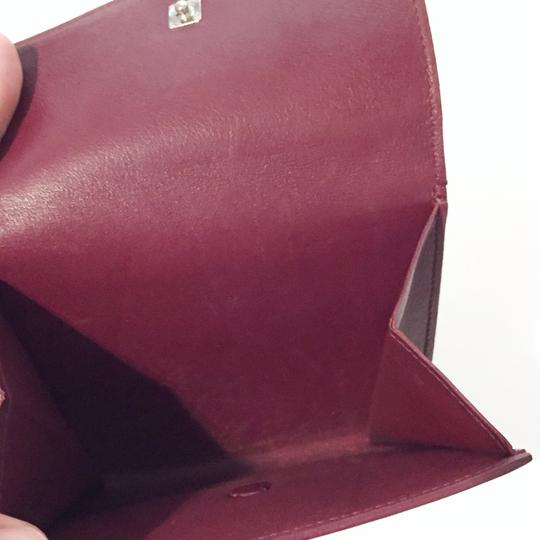 Cartier Classic red leather like new double snap wallet Image 6