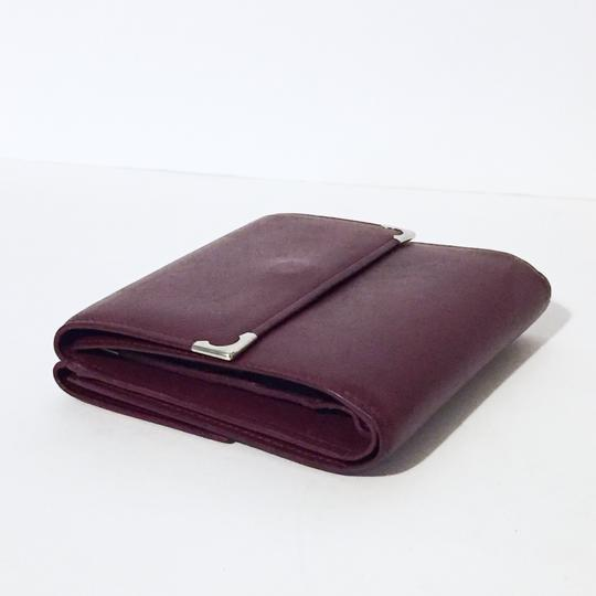 Cartier Classic red leather like new double snap wallet Image 7