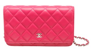 Chanel Woc Quilted Lambskin Cross Body Bag