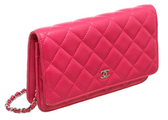 Chanel Woc Quilted Lambskin Cross Body Bag Image 1