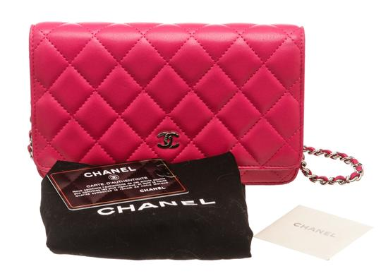 Chanel Woc Quilted Lambskin Cross Body Bag Image 9