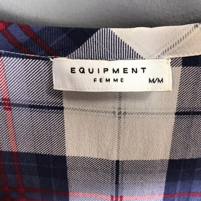 Equipment Silk Plaid Short Sleeve Top Image 2