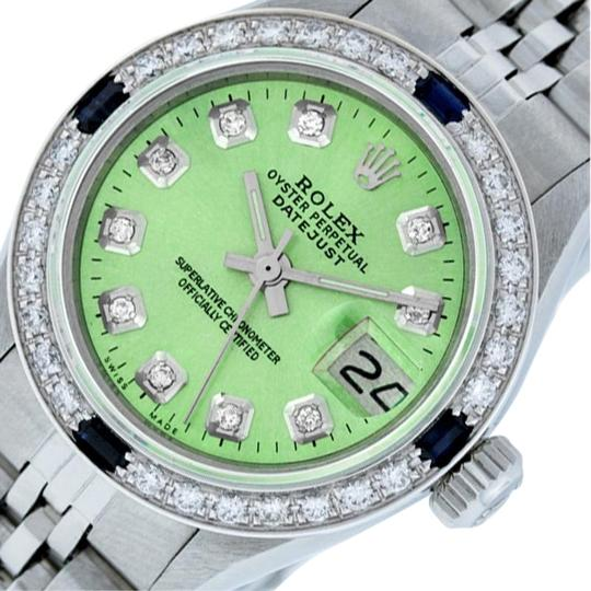 Preload https://img-static.tradesy.com/item/25809337/rolex-ice-green-ladies-datejust-stainless-steel-with-diamond-dial-watch-0-2-540-540.jpg
