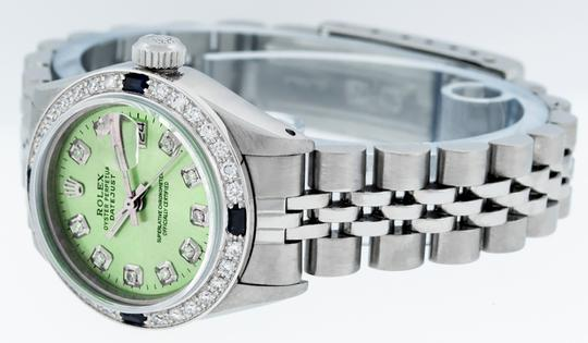 Rolex Ladies Datejust Stainless Steel with Diamond Dial Watch Image 8