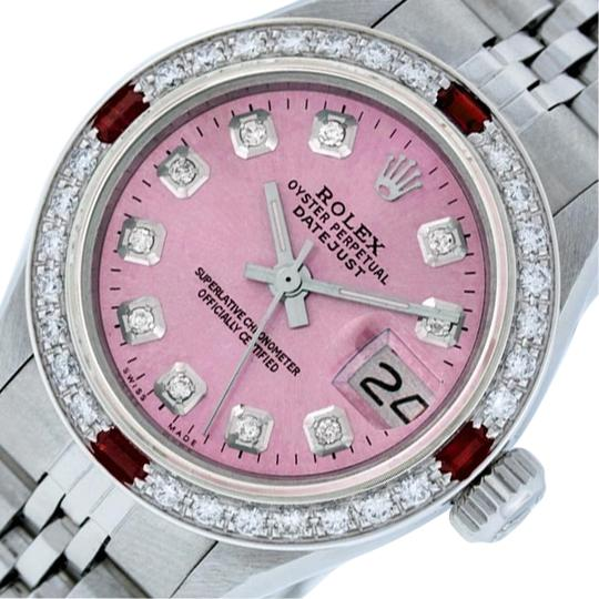 Preload https://img-static.tradesy.com/item/25809358/rolex-pink-ladies-datejust-stainless-steel-with-diamond-dial-watch-0-1-540-540.jpg