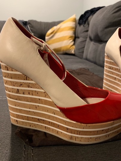 Gucci Red/Off White Wedges Image 1