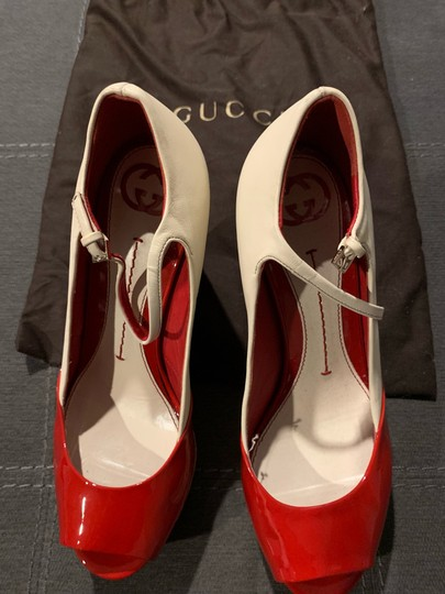 Gucci Red/Off White Wedges Image 4