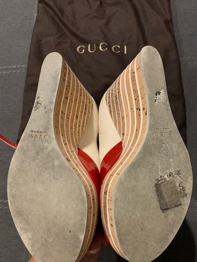 Gucci Red/Off White Wedges Image 5