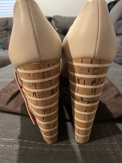 Gucci Red/Off White Wedges Image 6