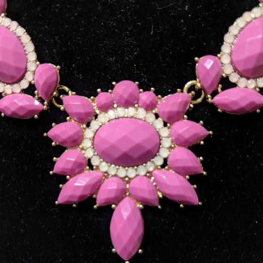 J.Crew Pink and Gold Statement Necklace Image 1