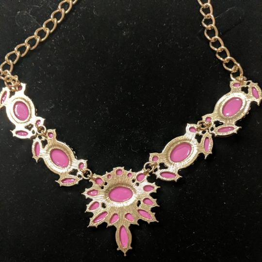 J.Crew Pink and Gold Statement Necklace Image 4