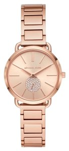 Michael Kors NWT Women's Portia Rose Gold-Tone Watch MK4331