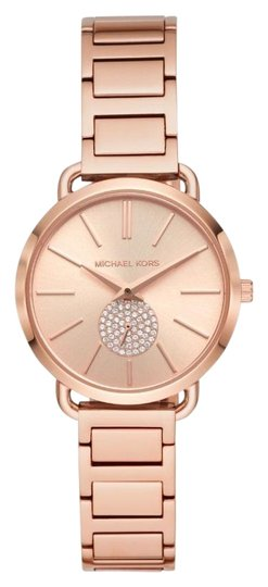 Preload https://img-static.tradesy.com/item/25809428/michael-kors-rose-gold-women-s-portia-gold-tone-watch-mk4331-wallet-0-1-540-540.jpg