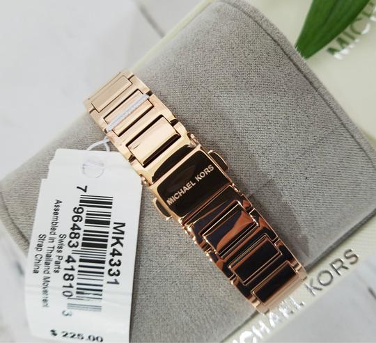 Michael Kors NWT Women's Portia Rose Gold-Tone Watch MK4331 Image 10