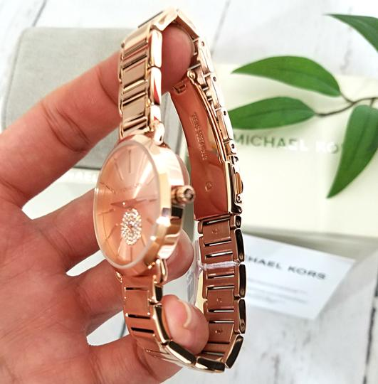 Michael Kors NWT Women's Portia Rose Gold-Tone Watch MK4331 Image 11