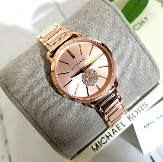 Michael Kors NWT Women's Portia Rose Gold-Tone Watch MK4331 Image 2