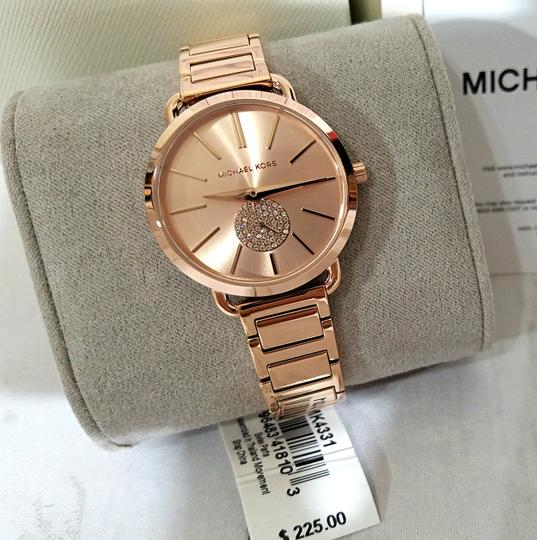 Michael Kors NWT Women's Portia Rose Gold-Tone Watch MK4331 Image 3