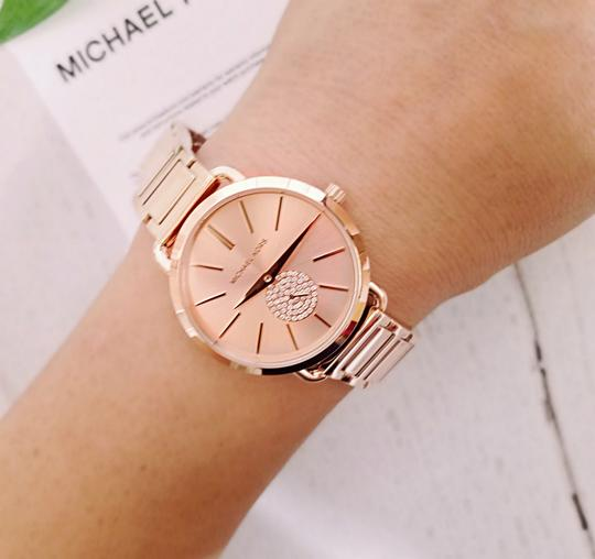 Michael Kors NWT Women's Portia Rose Gold-Tone Watch MK4331 Image 5