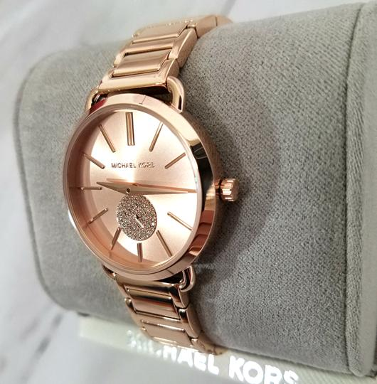 Michael Kors NWT Women's Portia Rose Gold-Tone Watch MK4331 Image 6