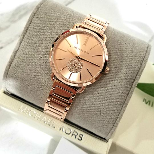 Michael Kors NWT Women's Portia Rose Gold-Tone Watch MK4331 Image 7