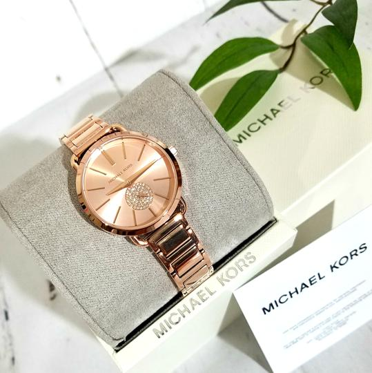 Michael Kors NWT Women's Portia Rose Gold-Tone Watch MK4331 Image 8