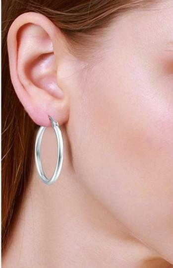 Other CLASSIC ROUND HOOP 1.5 INCH EARRINGS Image 4