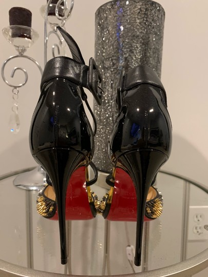 Christian Louboutin black, gold, silver Pumps Image 1