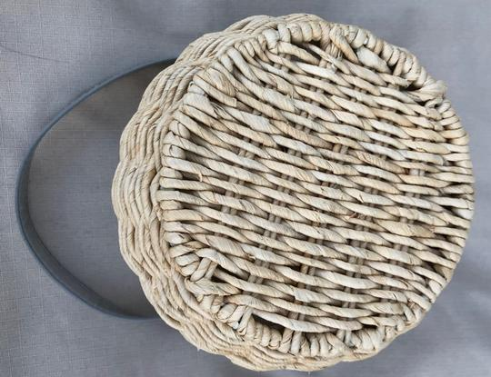 Cappelli Straworld Straw Silver Round Hobo Bag Image 3