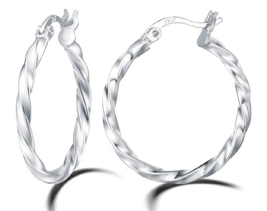 Other TWISTED ROUND HOOP 1 INCH EARRINGS Image 2