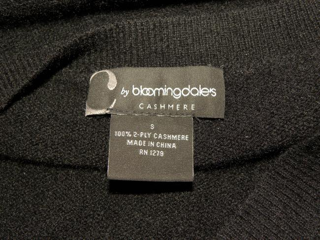 Bloomingdale's Cashmere Tunic Color-blocking Soft Luxury Sweater Image 1