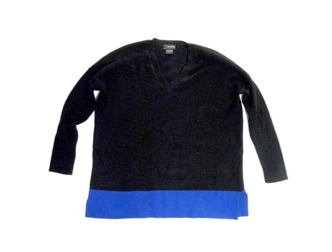 Bloomingdale's Cashmere Tunic Color-blocking Soft Luxury Sweater Image 3