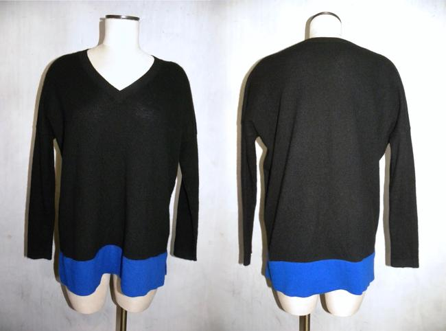 Bloomingdale's Cashmere Tunic Color-blocking Soft Luxury Sweater Image 4