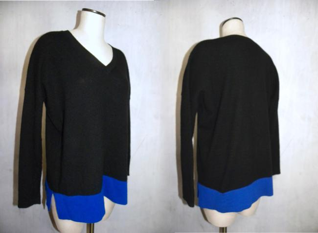 Bloomingdale's Cashmere Tunic Color-blocking Soft Luxury Sweater Image 5