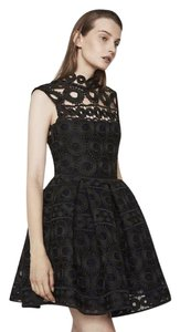 Maje Lace Pockets Fit & Flare Party Dress