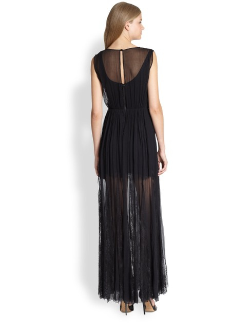 Black Maxi Dress by Alice + Olivia Silk Godet Faux Wrap Chiffon Maxi Image 1